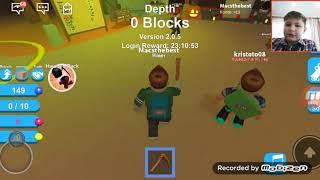 I am a miner (Facecam)/Let's play roblox mine 001
