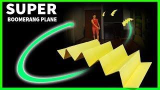 Super paper boomerang airplane | Cách gấp máy bay boomerang siêu lạ | boomerang plane king
