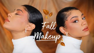 Fall Makeup Using All Affordable Products🍂🤎 | jasmeannnn