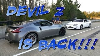 Devil Z vs Badmaro, Twin Turbo 370z, BMW 335i, Turbo Civic & Nitrous J30 STREET RACING
