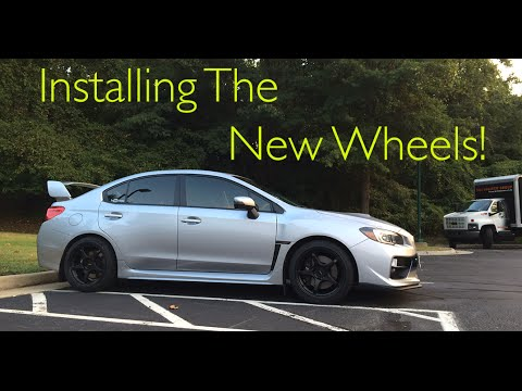 2016 Wrx Sti Installing The New Wheels Youtube