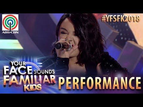 Your Face Sounds Familiar Kids 2018: Sheena Belarmino as KZ Tandingan | Rolling In The Deep