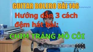GUITAR BOLERO BÀI 146: Hướng dẫn ba cách đệm hát bài CHIM TRẮNG MỒ CÔI
