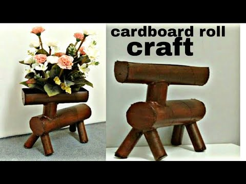 Best out of waste Cardboard roll craft idea Room decor