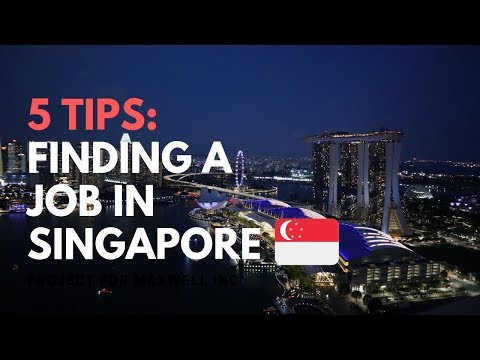5 TIPS | How to find a job in Singapore |