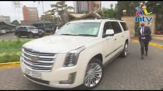 Governor Sonko leaves Senate meeting in a fleet of high end vehicles