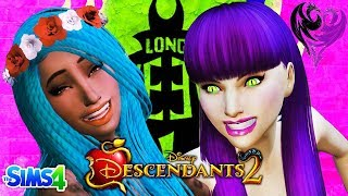 DESCENDANTS 2 - Sims 4 | MAL AND UMA FIGHT AT COTILLION | Disney's Descendants