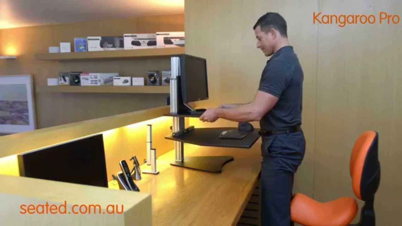 Kangaroo Pro Sit Stand Workstation Youtube