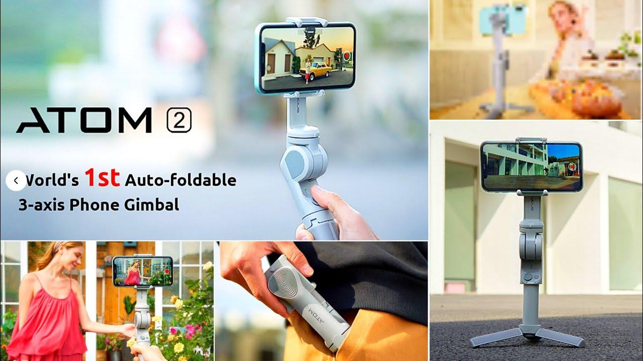 World's 1 Auto Foldable Phone Gimbal EVER! - ATOM 2