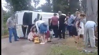В Абхазии автобус с туристами из России попал в ДТП