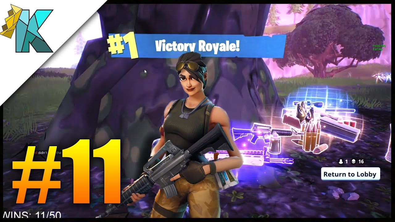 Fortnite Br Solo Squad Win 16 Kills Victory Gameplay 11 Pc