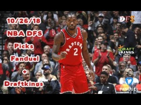 10/26/18 NBA DFS Picks Fanduel + Draftkings