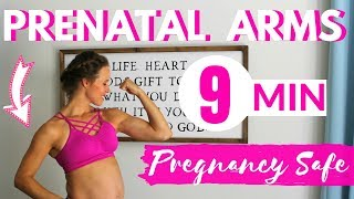 9 Minute Prenatal Arm Workout   1st, 2nd, and 3rd Trimester of Pregnancy