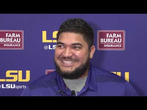 FULL SOUND  LSU Junior DE Breiden Fehoko talks Hawaiian culture, win against UGA