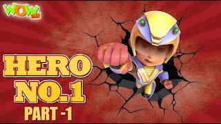 Vir The Robot Boy   HERO No 1   Part 1   Cartoon Movies For Kids   Wow Kidz