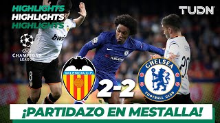 Highlights | Valencia 2 - 2 Chelsea | Champions League - J5 - Grupo H | TUDN