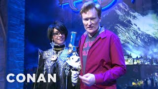 Repeat youtube video Conan Visits E3 To Check Out Playstation 4 & XBox One