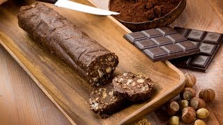 Чайная колбаска / Шоколадная колбаска из печенья