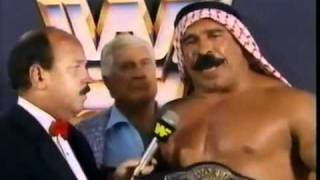 Iron Sheik, Nikolai Volkoff and Freddie Blassie interviewed by Gene Mean