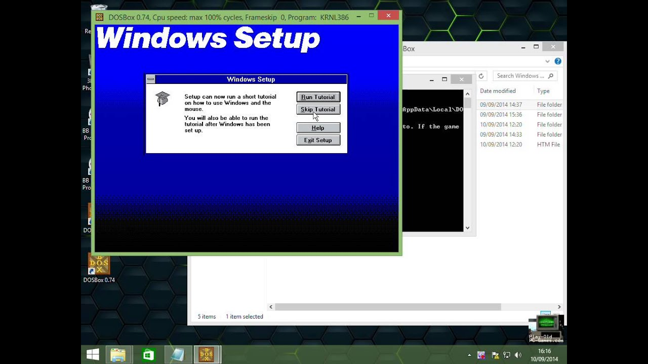 Windows3 1 game-ready in DOSBox by Videogame Bucko