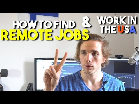 How to find REMOTE JOBS AND WORK IN THE USA (H1B VISA SPONSO