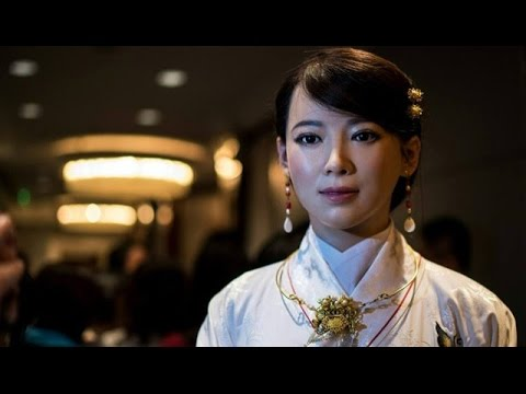 "Realistic Chinese Humanoid Robot ""Jia Jia"" Stuns And Charms Visitors To Shanghai Economic Conference"
