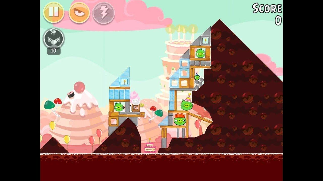Angry Birds Birdday Party Cake 4 Level 10 Walkthrough 3