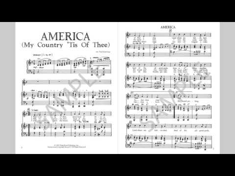 America (My Country 'Tis Of Thee) - MusicK8.com Singles Reproducible Kit
