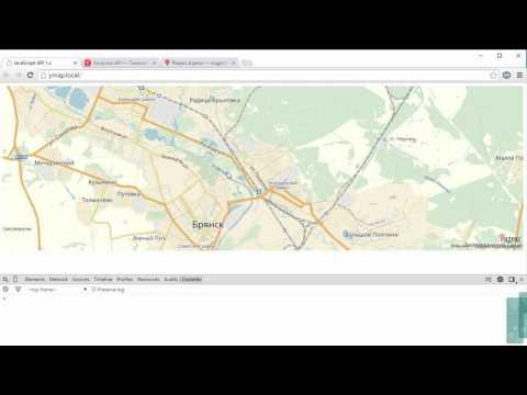 2  API Яндекс карт   элементы управления картой