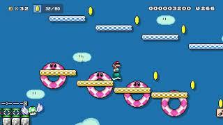 青空マリオ {automatic/don't move} by たぼっち - Super Mario Maker 2 - No Commentary