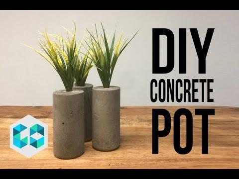 Diy concrete pot maceteros de concreto youtube - Maceteros de cemento ...