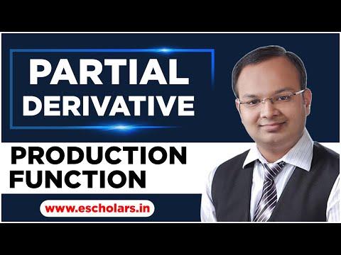 #26 | partial derivative | part -2 | production function | B.com h | eco h | ca