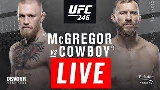 Conor McGregor vs Donald Cerrone Live Stream HD - McGregor vs Cowboy Full Fight 2019 UFC 246 LIVE