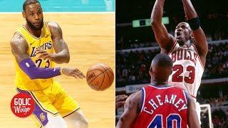 Michael Jordan's score-first mind gives him clutch gene over LeBron – Scottie Pippen | Golic & Wingo