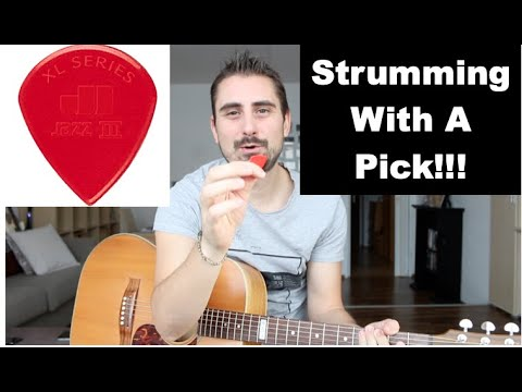 How To Strum Guitar With A Pick - Guitar Lesson - Tutorial