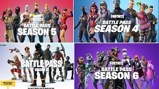 FORTNITE - SEASON 1 - 6 ALL TRAILER // ALL BATTLE PASS TRAILERS IN FORTNITE !!