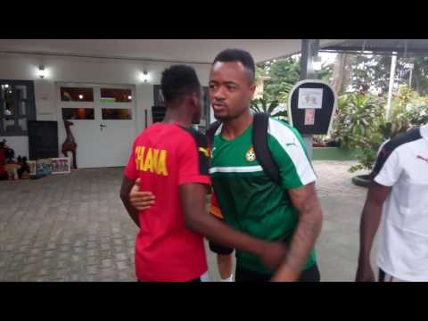 Ghana players in emotional Afcon send off for injured Baba Rahman