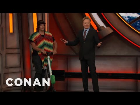Norman Reedus Parked His EScooter At ConanCon   CONAN on TBS