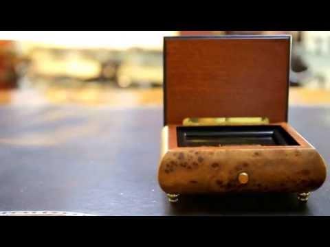 Beautiful Vintage Wooden Reuge Music Box