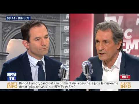 Benoît Hamon face à Jean Jacques Bourdin, 16 janvier 2017