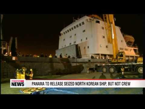 Panama to free seized N. Korean ship, but not crew