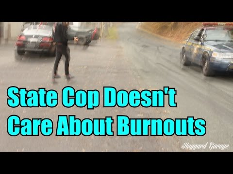 Busted Doing A Burnout