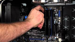 corsair hydro series h60 cpu cooler install how to video