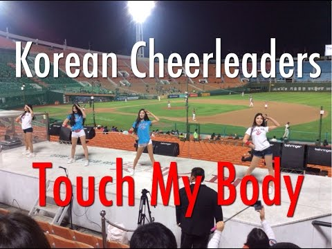 Korean Baseball - Lotte Giants Cheerleaders Dancing To Touch My Body