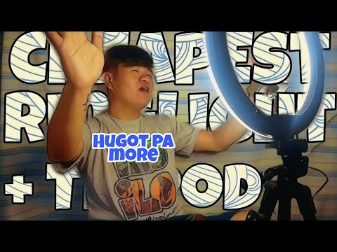 CHEAPEST RINGLIGHT + Yunteng VCT 5208 TRIPOD   Unboxing With HUGOT By Sir JC
