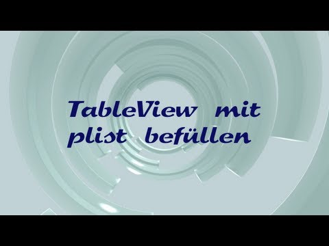 TableView mit Property List befüllen (Xcode, iPhone, IPad, Objective-C)