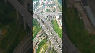 Take a look at the roller coaster-like Qianchun interchange in Guiyang, SW China's #Guizhou Province