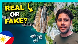 PHILIPPINES unique GEM! WATERFALL ends into OCEAN!!!
