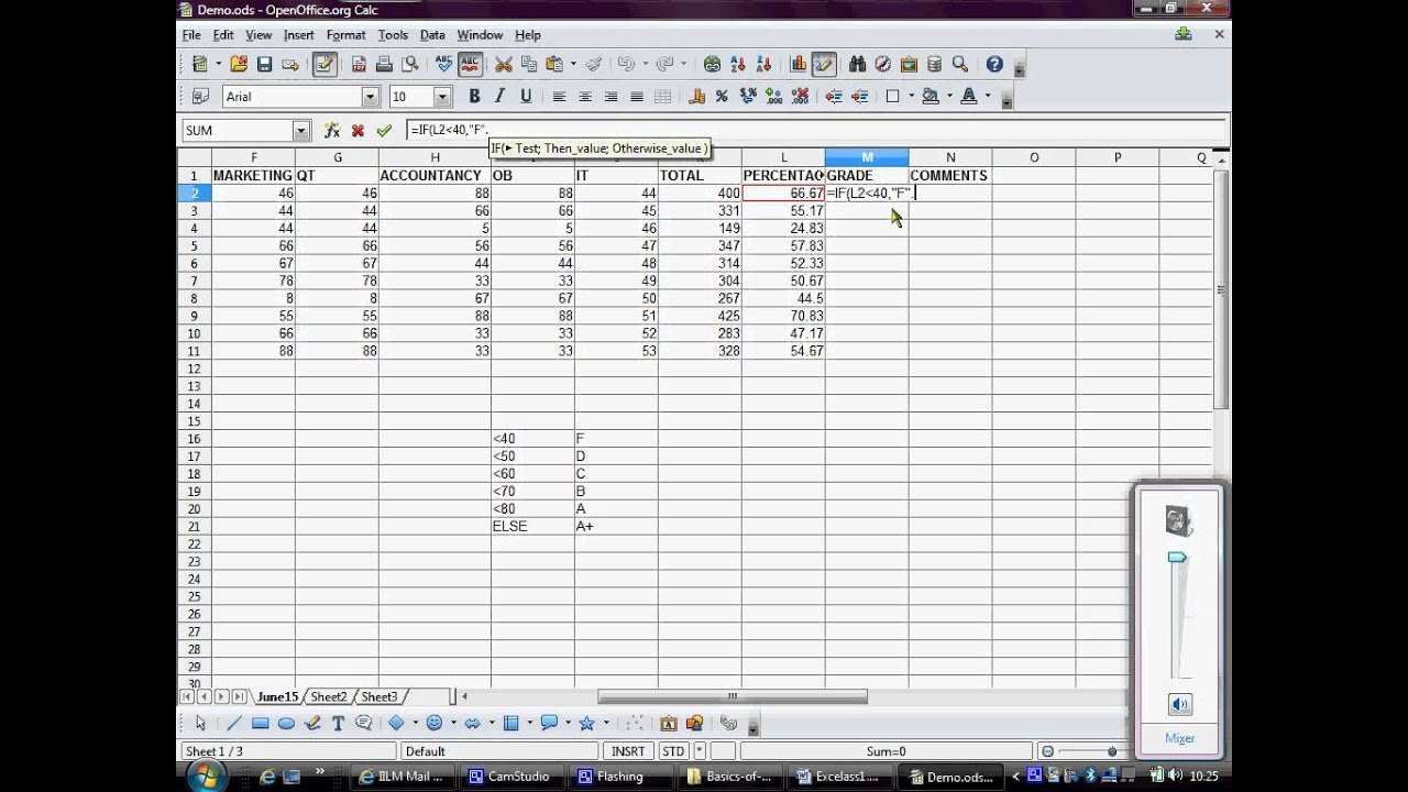 how to set up financial record spreadsheet