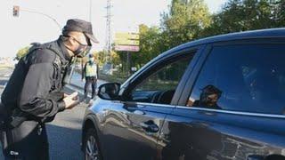 Importante despliegue policial en el primer día de confinamiento en Palencia